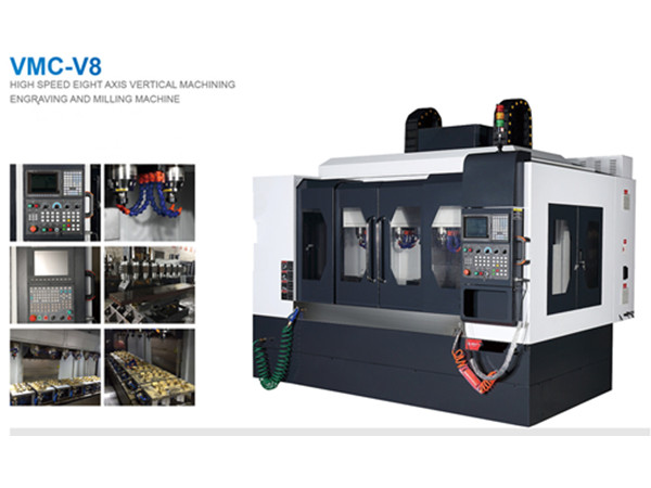 Eight Axis Vertical Engraving and Milling Machine